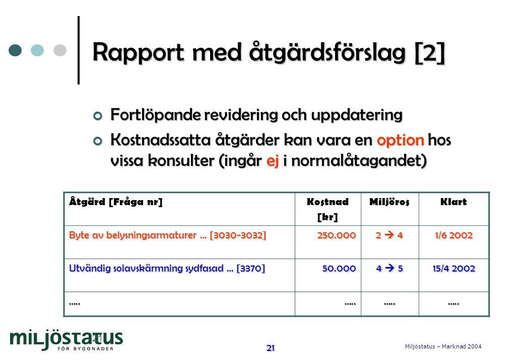 Rapport med åtgärdsförslag [2]